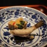 島宿 真里 - 「菜」いぎすの酢味噌掛け 小ふぐ わらび