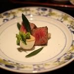 島宿 真里 - 小豆島オリーブ牛炙り焼き