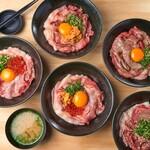町田肉寿司 - 【テイクアウト】寿司屋の海鮮和牛丼