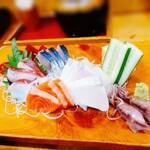お食事処 石 - 刺身定食
