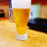 お食事処 石 - 生ビールの小