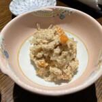 安兵衛寿し - 料理写真:お通し/鱈の子漬け