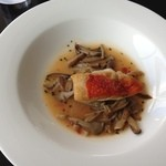 14955172 - ランチコース メイン キンメダイの茸ソース