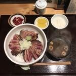魚肉菜 小松食堂 - ほほ肉炙り丼 ¥1280