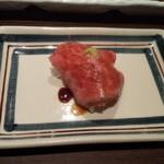 焼肉グレート - お通しのお寿司