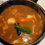 ひげ男爵 - チキンカレー(スープ大盛)