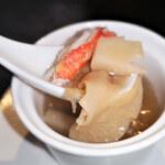 149558118 - フカヒレ入り五目蒸しスープ