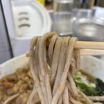 田舎そば かさい - 太い蕎麦