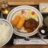 こいわ軒 - 料理写真:ランチのA、カニクリームコロッケとハンバーグ