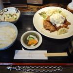 旬魚旬菜 かじ - チキン南蛮セット(\850)
