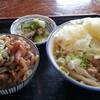 信玄 - 料理写真:肉うどん、もつ丼