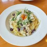 ハーブ キッチン Rosmarino - 料理写真:赤インゲンと鶏ささみの味噌クリームパスタ
