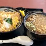 松月庵 - カツ丼と蕎麦のセット