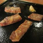 14959124 - 飛騨牛上ロース定食(自分で焼きます)
