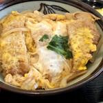 松月庵 - カツ丼はハーフサイズ