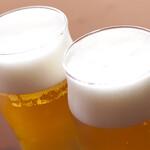 馬春楼 - まずは生ビールで乾杯!