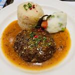 クレッソニエール - フランス風牛挽き肉のソテー 粒マスタードのソース
