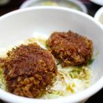 食房 つしま - 料理写真:カツ2個、ご飯少な目