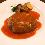 洋食や なかむら - ハンバーグ1.5倍 トマトチーズ