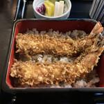 Kandamatsuya - 天丼(車海老2尾)@3,135
