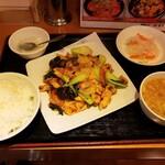 好味来 - 鶏肉の四川風炒めセット980円!
