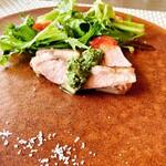149611217 - 富士山麓のマンゲン豚のポークソテー。野菜も豚さんも美味しすぎる❤️