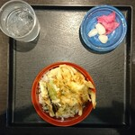 須坂屋そば - ミニ野菜天丼セット