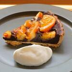 菓子工房&Cafe まめの木 - 料理写真:国産ブラッドオレンジとチョコレートのタルトアップ