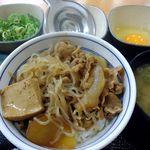 吉野家 - 牛鍋丼+ねぎ玉子+お新香セット