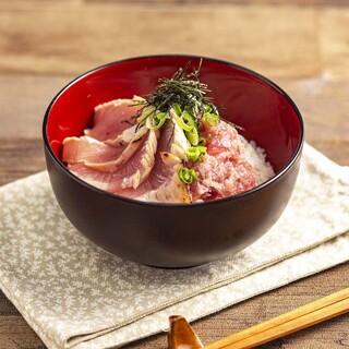 焼津産キハダマグロのマグロ丼♪