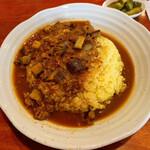ムーンボウ - 茄子と挽肉のカレー