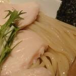ヒキュウ - 鶏白湯魚介つけ麺♪