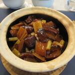 蟹王府 - ナマコの焼き葱煮込みかけご飯