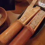 しゃぶしゃぶ 温野菜 - 竹筒コラーゲンと竹筒鶏つみれ