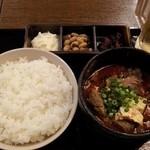 だんだん - 激辛 牛すじ煮込み豆腐定食500円!