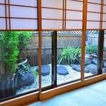 鳴門 - 個室「欄」の坪庭