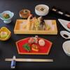 屋形船 品川 船清 - 料理写真:屋形船基本コース「緑舟」料理例 揚げたての天ぷらをメインに刺身の舟盛りなど盛りだくさんの日本料理