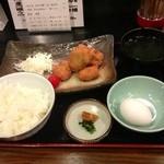 14967349 - 鳥カツ定食:300円+玉子:50円