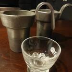 白雪温酒場 - ドリンク写真:錫のちろり