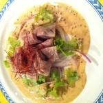 丹華麗 - 砂肝のコンフュ仕立 マスタードソース