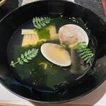 149681145 - お椀  筍と蛤の若竹椀