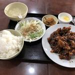 晴々飯店 - 黒酢鶏定食
