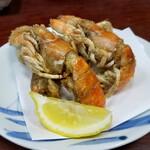149693012 - 乙島しゃこ                       見た目はイカツイ。バリッとした食感の殻、これぞ甲殻類をたべてるかんじ。好きなメニュー。