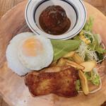 肉が旨いカフェ NICK STOCK - ニックプレートランチ