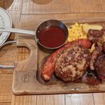 肉が旨いカフェ NICK STOCK - 熟成牛ハンバーグ&ステーキランチ