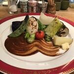 149704826 - 旬焼魚 厳選季節野菜コース ¥2,750                       春野菜盛合せ
