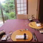 フランス料理 颯香亭 - お座敷の個室