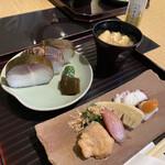149718859 - 鯖寿司と季節のお惣菜が楽しめる鯖寿司セットがお得です!