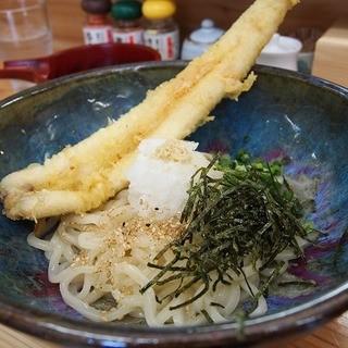 とす麺之介 - 料理写真:ぶっかけ♪あなご 720円 はみ出そうなくらい