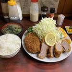 とんかつ赤城 - ヒレカツランチ900円+コロッケ1個290円